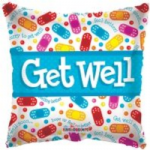 "GET WELL BALLOON 18""  19085-18"